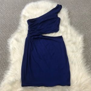 Guess by Marciano Blue One Shoulder Dress Size SM